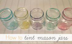 How To Tint Mason Jars - Reasons To Skip The Housework