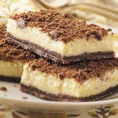 madeover, lighter Cream Cheese Streusel Bars.. (245 calories per bar)