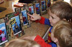 DIY Superhero frames as party favors