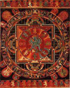 Hevajara Mandala Central Tibet, 14th century 54 x 43.5 cm
