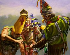 """Courir de Mardi Gras - Number 11"", oil on canvas, 16"" x 20"", Herb Roe © 2010. NFS, private collection."