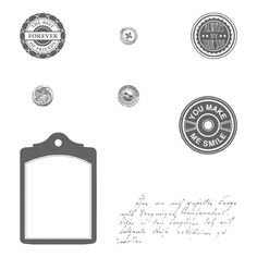 Notable Notions from Stampin' Up! is a perfect set to use to embellish your cards and scrapbook pages.  It coordinates with the Chalk Talk framelits and several different circle punches.  Get yours for only $16.95.