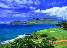 Our favorite golf spot at Kauai Lagoons. Kauai, Hawaii #kauai #hawaii #activity #education #golf #travel   Planning for Billy..