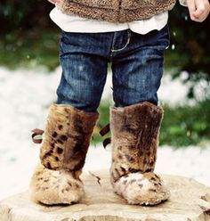 amazing boots for a little one! animals, ador boot, ador babi, art, baby style, babi boot, baby girl fur boots, baby boots, kid