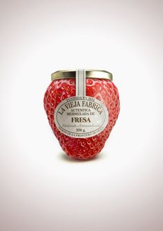 Strawberry Marmelade / #packaging #branding #design #fruit #glass