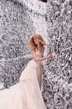 . woman fashion, nina ricci, christmas dresses, winter wonderland, frida gustavsson, white, photo shoots, maze, ad campaigns