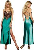 Sexy Gorgeous Emerald Green Long Nightgown Lingerie Set