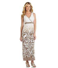 Ruby Rd Surplice AnimalPrint Maxi Dress #Dillards