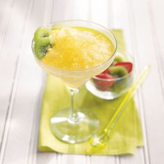 Golden Kiwi Margarita Mix - Frosty and fruity. Just add tequila and water, and freeze in the handy bucket. It can be made non alcoholic too!! http://www.tastefullysimple.com/web/jhotes