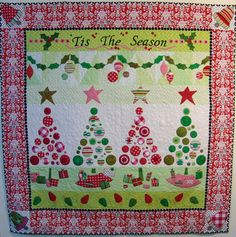 Christmas Row Robin quilt by Kathleen Murphy 2012