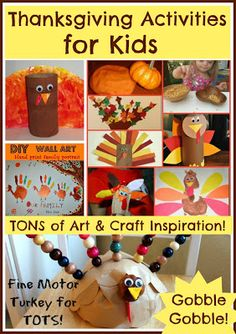 Thanksgiving Activities for kids- crafts, arts and crafts, games, and more!