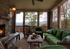 Amazing Mountain Home Porch