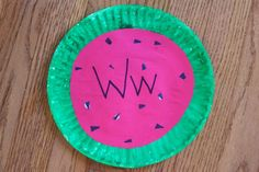 W is for Watermelon craft, alphabet idea, school stuff, preschool letters, watermelon, activ, letter ww, preschools, letter art