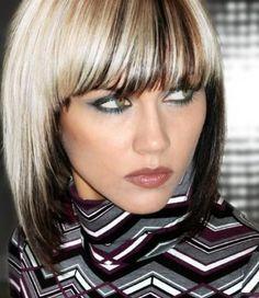 platinum blonde, hair colors, haircolor, hairstyl, hair highlights, brown hair, thick hair, funky hair, bang