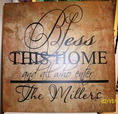 Large Tile with Vinyl Design! Great for a foyer or mantel. $25