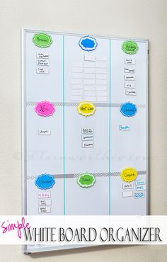 Simple White Board Organizer on kleinworthco.com