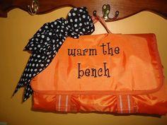 """or """"Benchwarmer"""" on the NEW BLEACHER BLANKET"""
