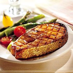 fish dishes for dinner | Honey-Bourbon Salmon - Recipe.com