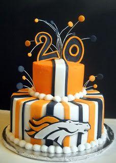 Broncos cake vanilla cake, violet, denver broncos, wedding cakes, bronco cake, groom cake, cake recipes, 30th birthday, birthday cakes