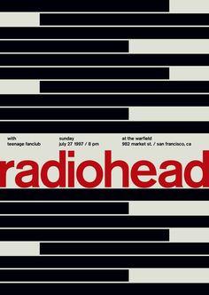 radiohead at the warfield, 1997 - swissted