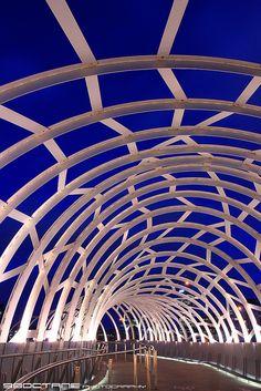 Webb Bridge at The Blue Hour    Docklands, Melbourne, Victoria