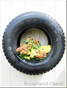 Flower planter tires
