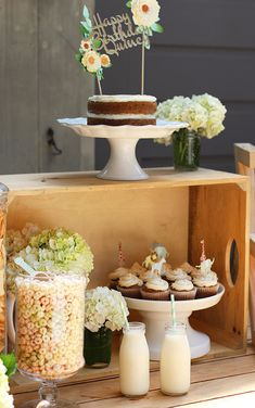 A sweet outdoor first birthday party