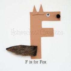 picasa web, art project, fox crafts for kids, letter craft, alphabet letters crafts, letter a crafts for kids, web album, learning crafts for kids, letter art