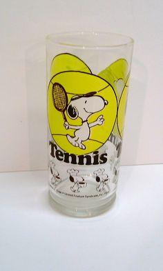 vintage tennis glass