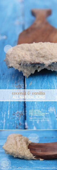 Coconut and vanilla icing