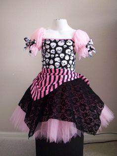 Custom Boutique Pink  Pirate tutu Halloween by primafashions