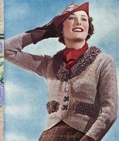 Vintage Knitting Patterns on CD Knit a 1930's Style Jacket Knitting Pattern