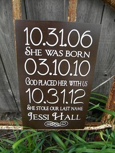 Personalized baby Gift adoption Gift by Timberlinewoodworks, $40.00