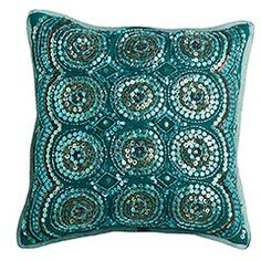 Sequin Circles Pillow from Pier1.  Love this, want this.