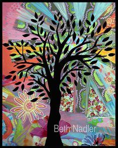 Tree Wall Art by BethNadlerArt on Etsy, $15.00