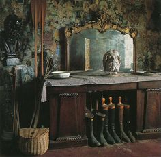 The Vintaquarian decor, interior, mudroom, aka mirror, field journal