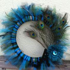 Peacock Feather Wreath wreaths