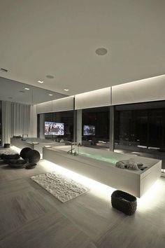 modern home, minimalistic, futuristic interior, future home, futuristic bathroom, tv, futuristic furniture, futuristic interiror design,bath...
