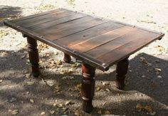 pallet top table for family and living room coffee table. Love!