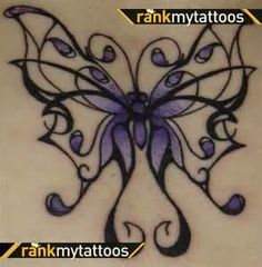 Tribal Butterfly Tattoo - do your favorite color(s)