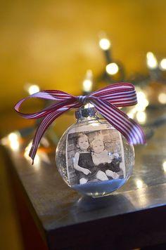 Personalized Photo Christmas Ornament.. $19.00, via Etsy.