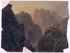 "Frederic Edwin Church | ""Mountain Landscape"", 1853–55"