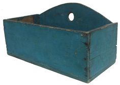 Southern Wall Box with wonderful blue paint, nailed construction with square and round head nails, the wood is southern pine/ yellow pine, from a private collection in North Carolina, circa 1890-1900 paint small, antiqu paint, blue countri, primit blue, blue primit