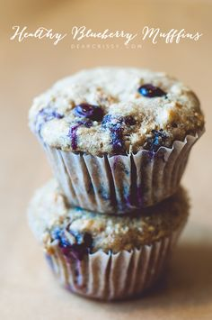 Healthy Blueberry Muffins from @Crissy Page Page