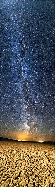 One of the more beautiful Milky Way photos I've seen. This one is taken over the two small towns of Gerlach and Empire, Nevada.