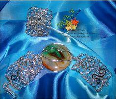 PULSERA Y ANILLO TECNICA MARTILLADO  Elaborado por la Artesana Diseñadora Milady Arévalo en Cobre bañado en Plata