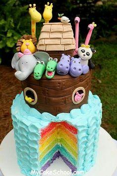 Noah's ark- Not crazy about the fondant but what a cute idea