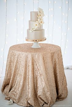 sweetheart table, champagne, sequins, wedding cakes, sequin tablecloth, table runners, cake tables, blush, linen