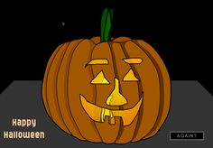 Carve a Pumpkin! Great activity for Mouse/Trackpad Skills.  A simple game that allows students to carve their own Halloween pumpkin.  At the end, it presents the pumpkin with a spooky candle inside.