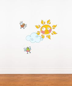 Sun & Birds Wall Decal